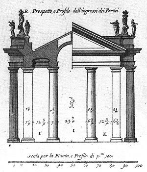 Schnitt kolonnaden - Architektur schnitt ...