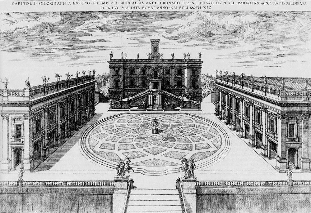 Rom kapitol projekt michelangelos for Universitat architektur
