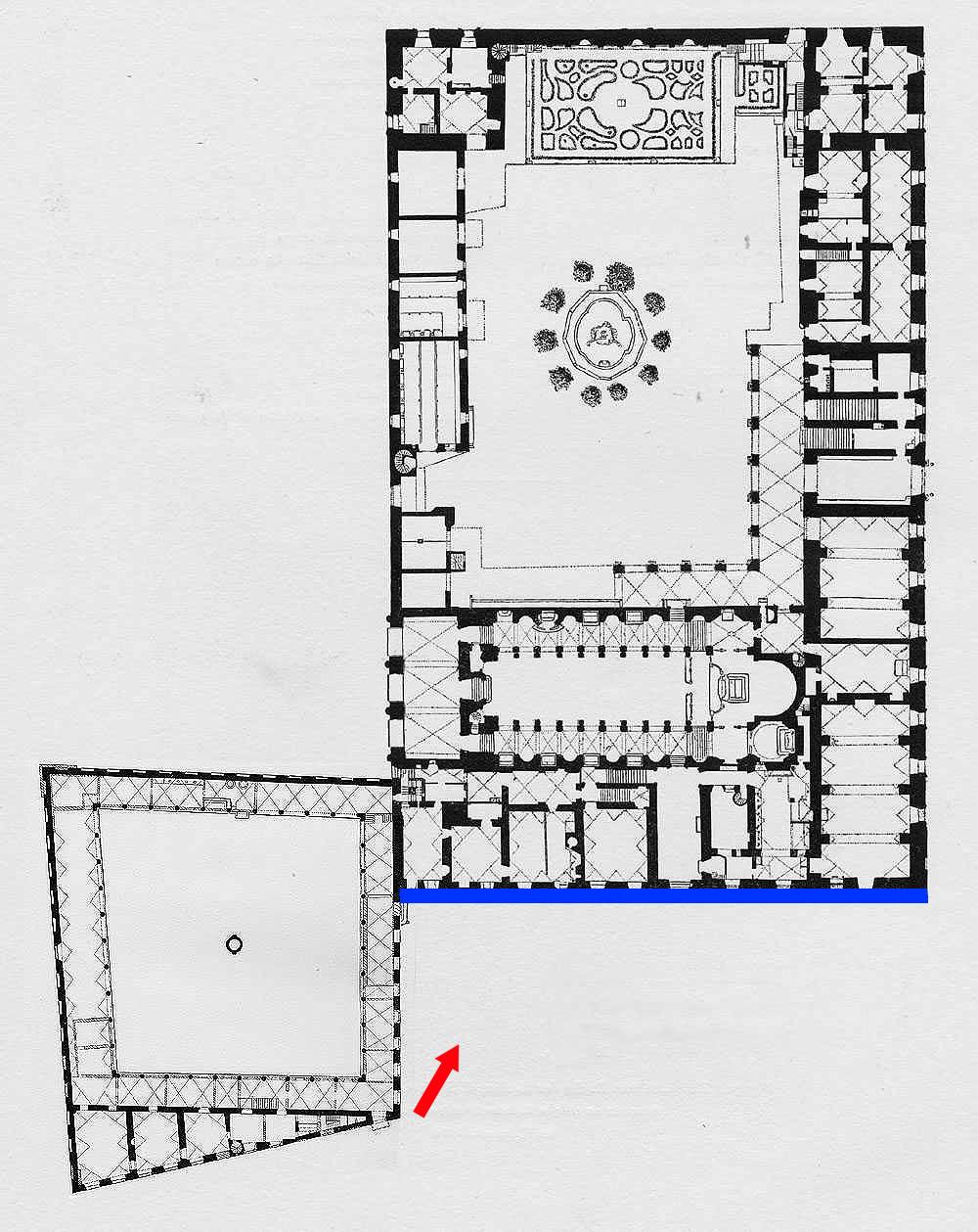 Rom Palazzo Venezia Historischer Grundriss